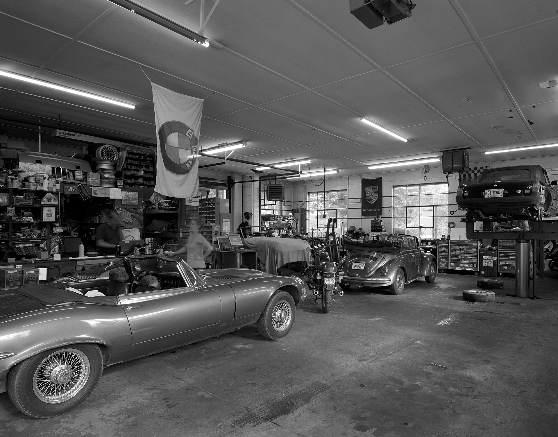 Black & white interior shot of AVA Restoration services